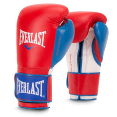 EVERLAST GLOVES POWERLOCK VELCRO LEATHER RED/BLUE - MSM FIGHT SHOP