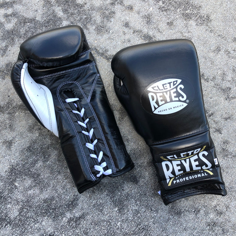 Cleto Reyes Boxing Gloves Black Lace up