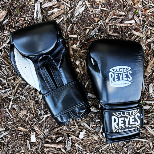 Cleto Reyes Black Velcro Boxing Gloves