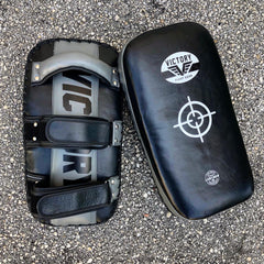 VICTORY THAI PADS LEATHER CLASSIC SERIES BLACK/GREY