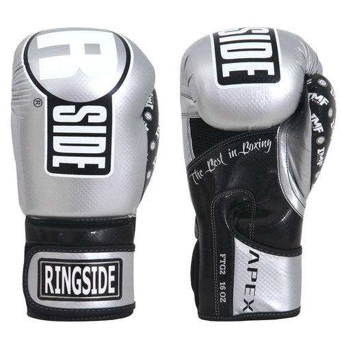 RINGSIDE GLOVES SPARRING APEX FTG2 SILVER/BLACK