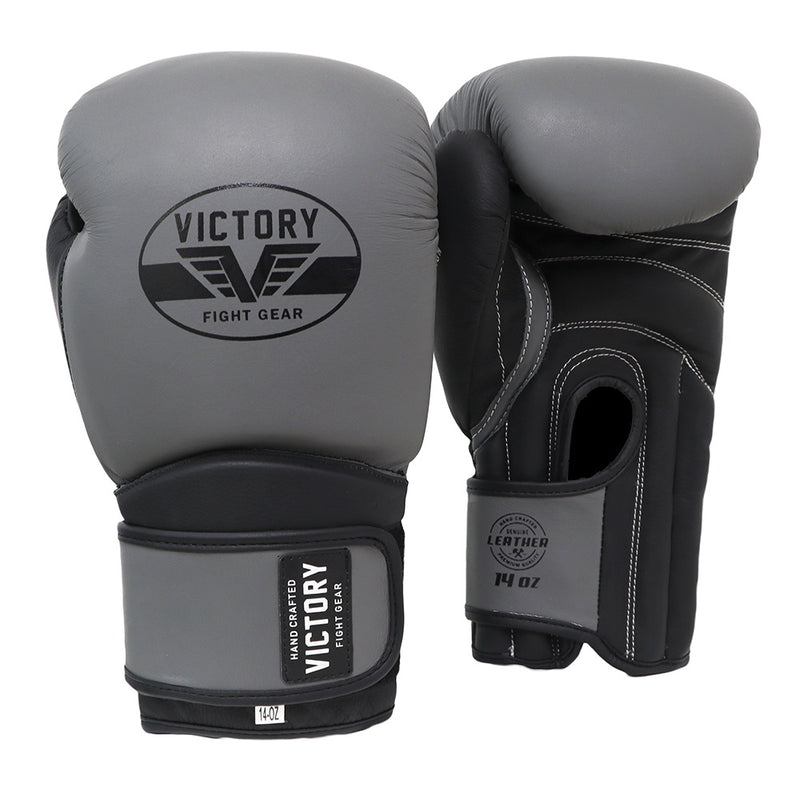 VICTORY GLOVES CLASSIC SERIES 3.0 LEATHER GREY/BLACK MATTE