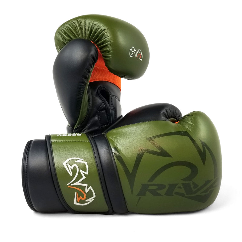 RIVAL GLOVES RS80V IMPULSE SPARRING - OLIVE GREEN - MSM FIGHT SHOP
