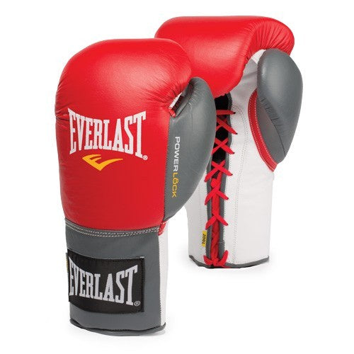 EVERLAST GLOVES POWERLOCK LACE RED/GREY - MSM FIGHT SHOP