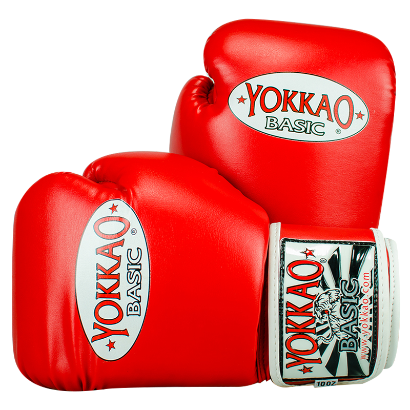 YOKKAO GLOVES BASIC SYNTEC RED - MSM FIGHT SHOP