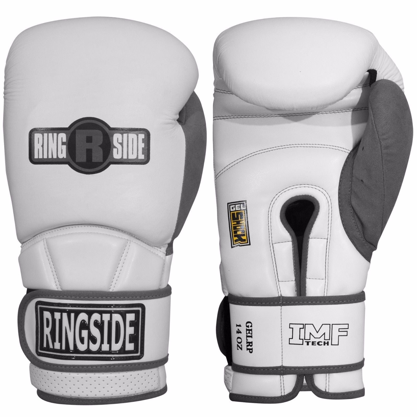 RINGSIDE GLOVES GELRP SUEDE THUMB WHITE / GREY - MSM FIGHT SHOP