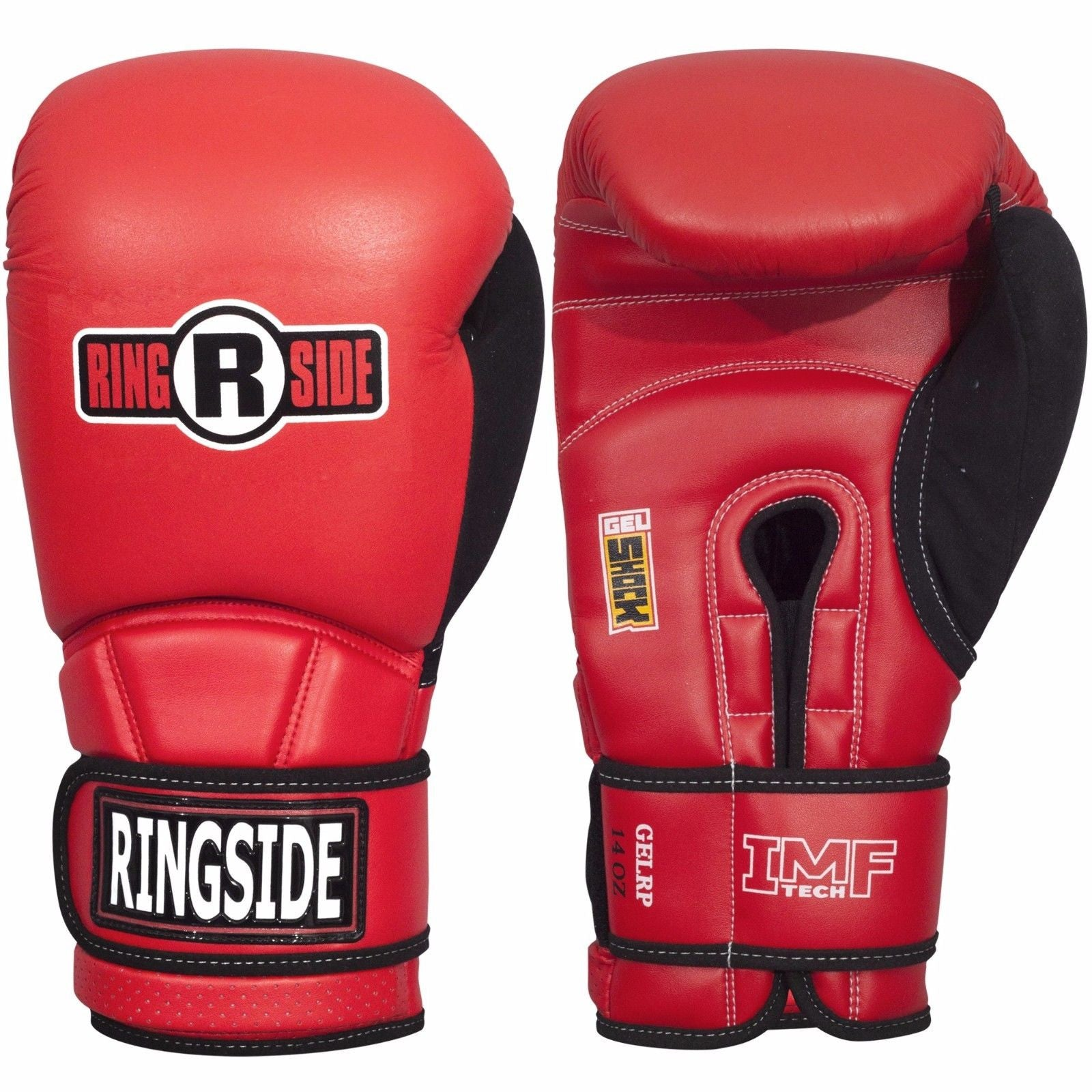 RINGSIDE GLOVES GELRP SUEDE THUMB RED / BLACK - MSM FIGHT SHOP