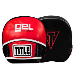 TITLE FOCUS MITTS MICRO GEL LEATHER RED/BLACK