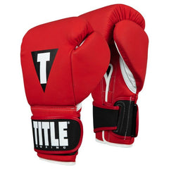 TITLE GLOVES SELECT LEATHER VELCRO MATTE RED