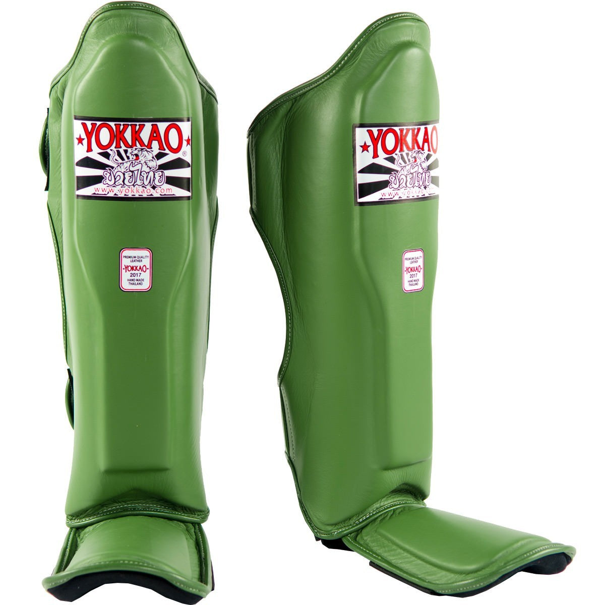 YOKKAO SHINGUARDS MATRIX THAI STANDUP GREEN ARMY - MSM FIGHT SHOP
