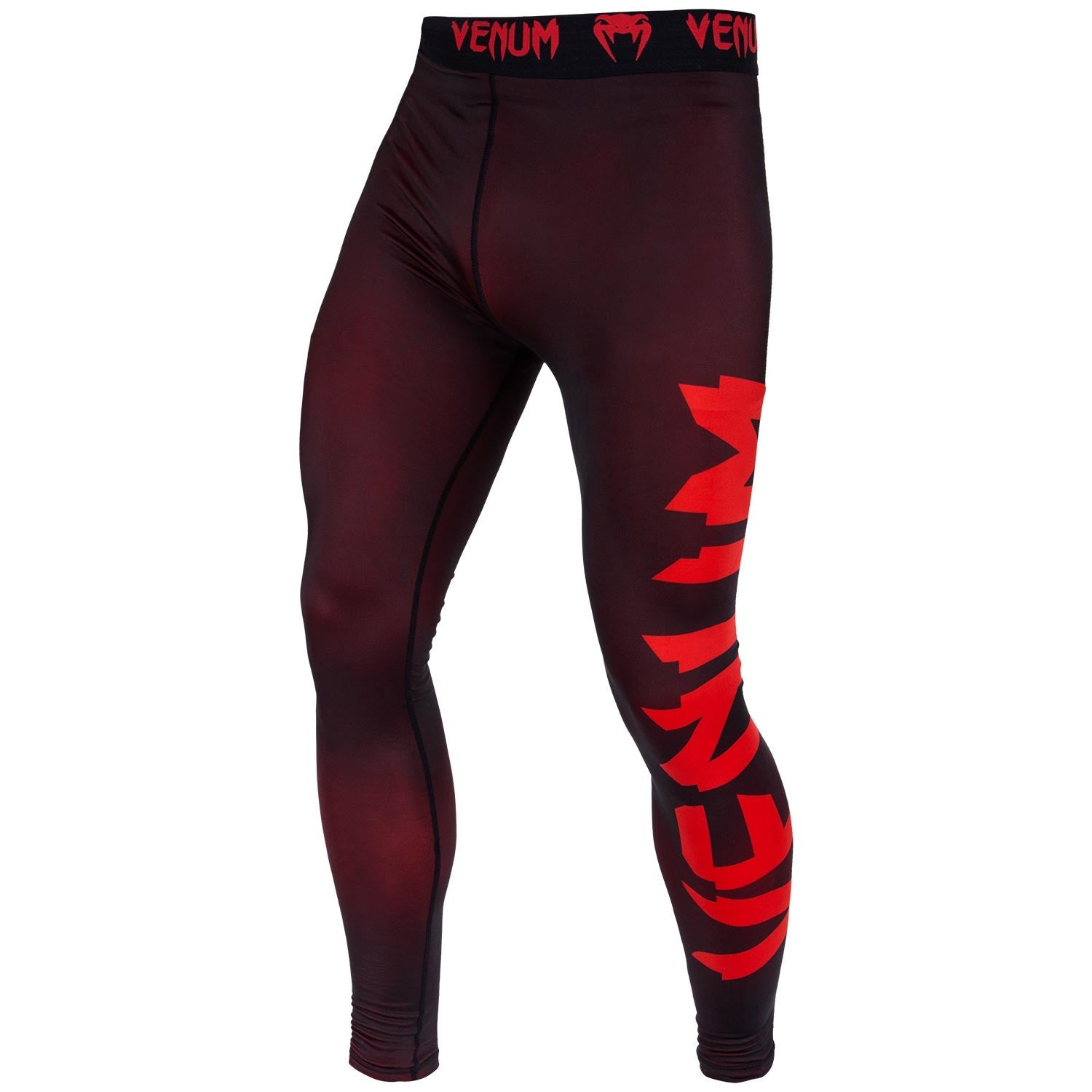 VENUM SPATS GIANT BLACK/RED - MSM FIGHT SHOP