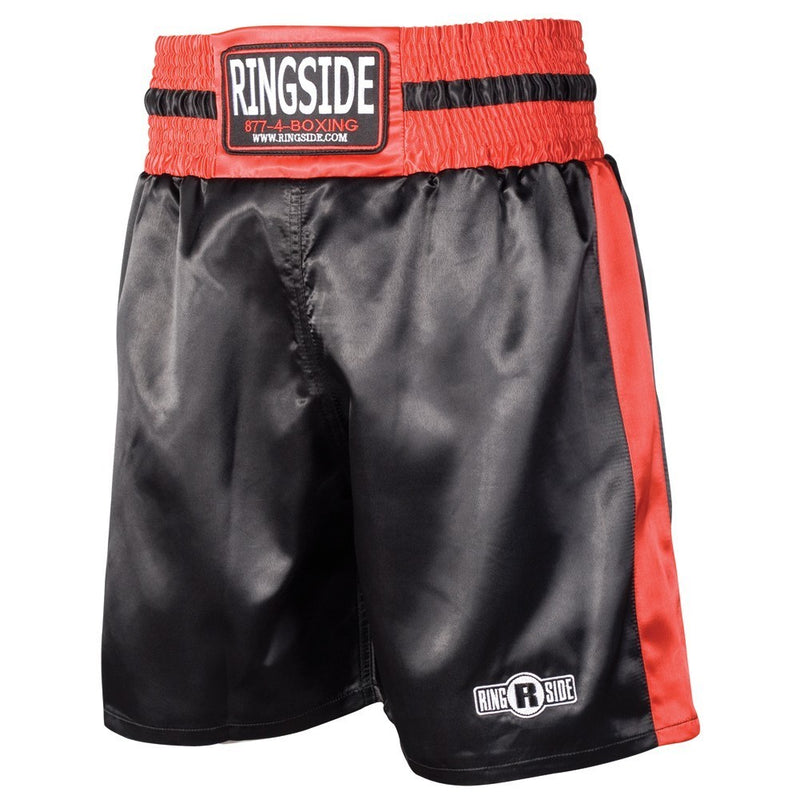 RINGSIDE BOXING SHORTS PST BLACK/RED