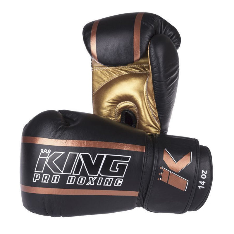 KING GLOVES ELITE PRO BOXING - BLACK/BRONZE