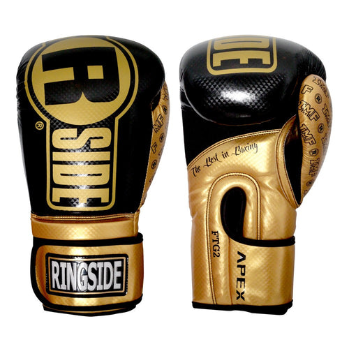 RINGSIDE GLOVES SPARRING FTG2 GOLD/BLACK - MSM FIGHT SHOP