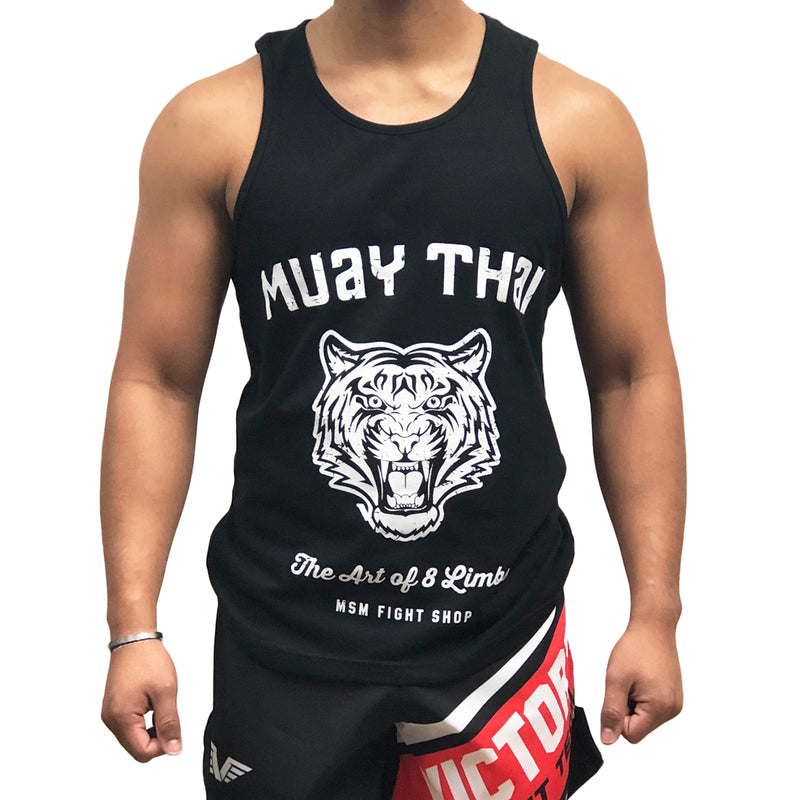 MSM TANK TIGER THE ART OF 8 LIMBS BLACK/WHITE