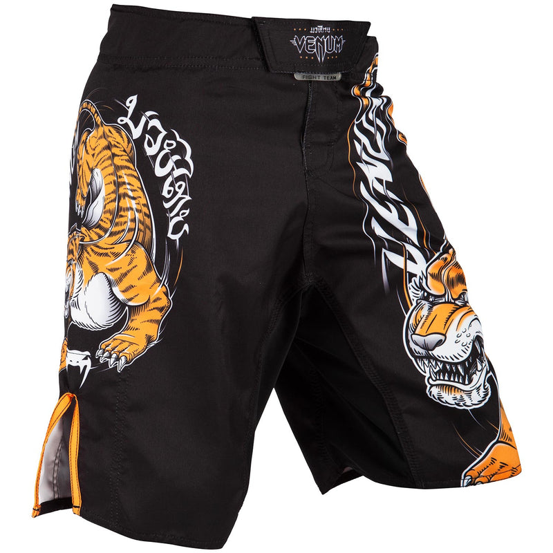 VENUM SHORTS YOUTH TIGER KING KIDS BLACK/ORANGE - MSM FIGHT SHOP
