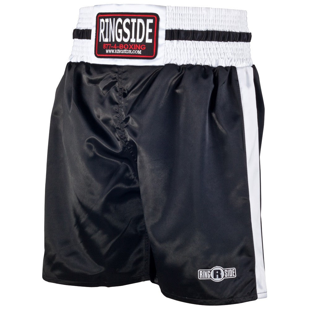 RINGSIDE BOXING SHORTS YOUTH PST BLACK/WHITE - MSM FIGHT SHOP