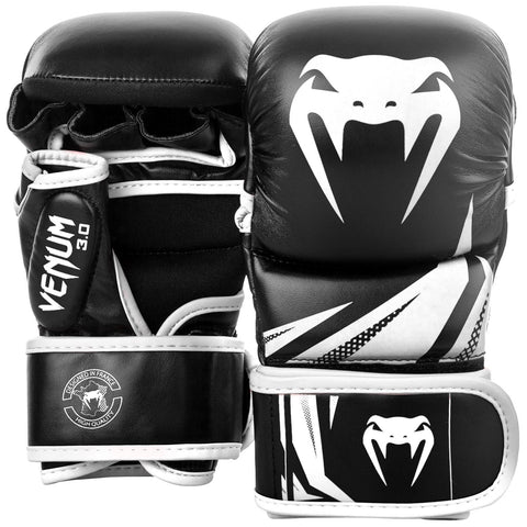 VENUM MMA GLOVES SPARRING CHALLENGER 3.0 - BLACK/WHITE