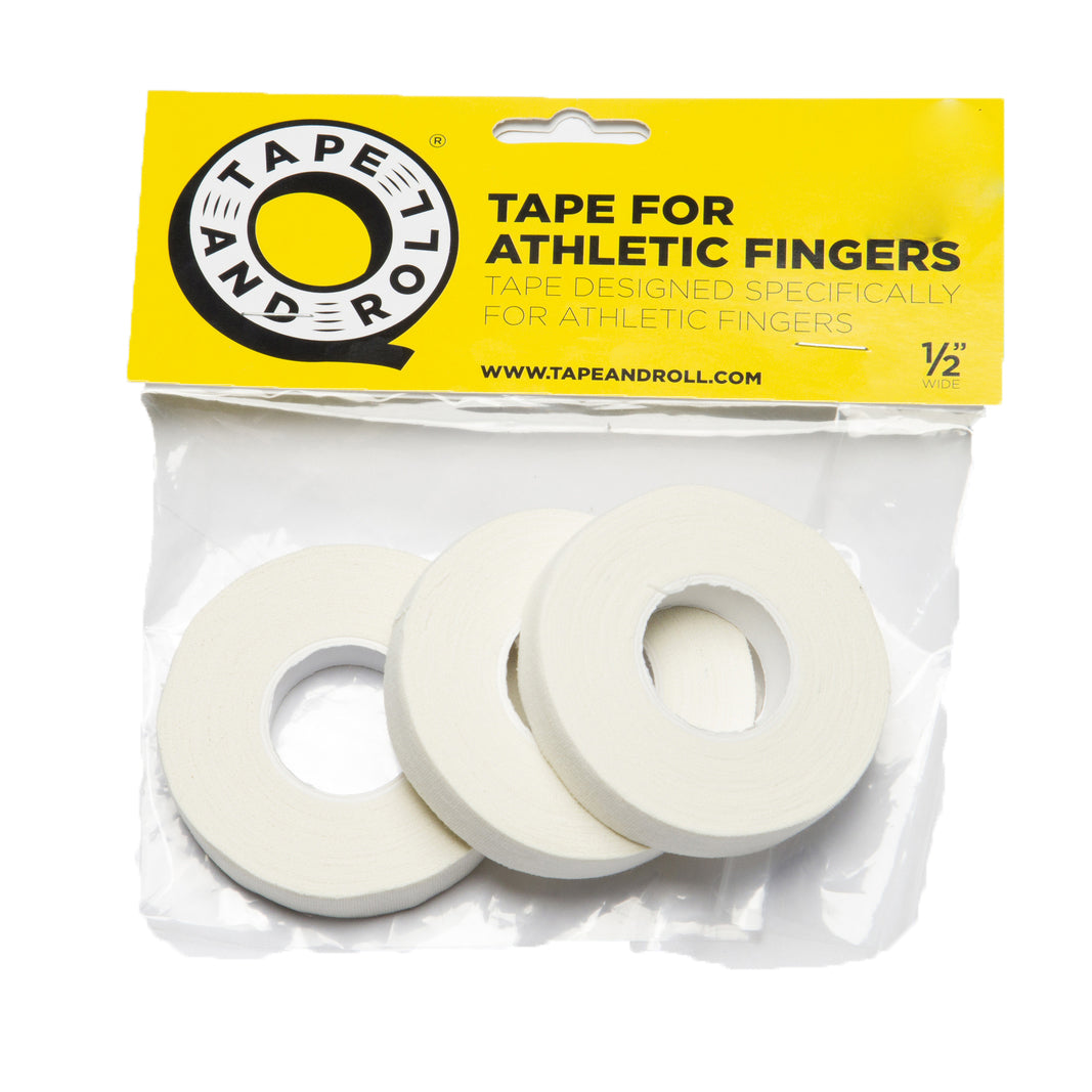 "TAPE AND ROLL FINGER TAPE 3 ROLLS  1/2""  WHITE - MSM FIGHT SHOP"