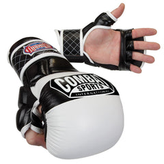 COMBAT SPORTS MMA GLOVES TG6 WHITE/BLACK - MSM FIGHT SHOP
