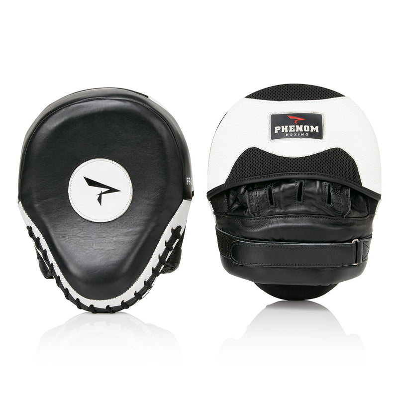 PHENOM BOXING FOCUS MITTS FP2 LEATHER BLACK/WHITE