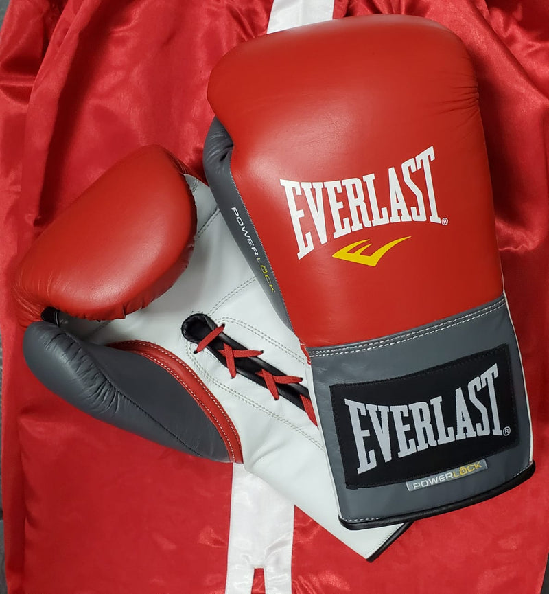 EVERLAST GLOVES POWERLOCK LACE RED/GREY