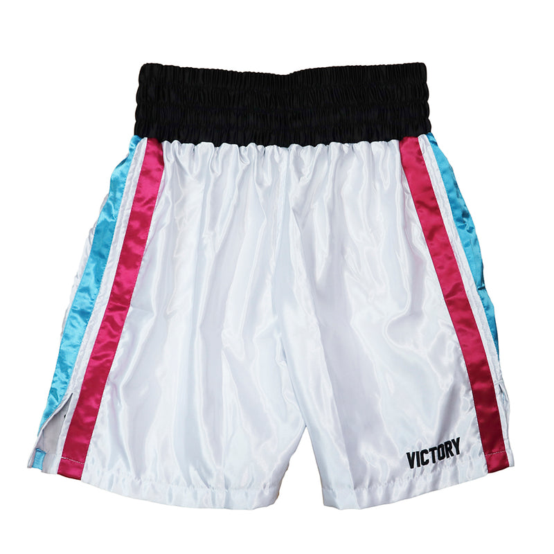 VICTORY BOXING SHORTS MIAMI VICE SERIES WHITE
