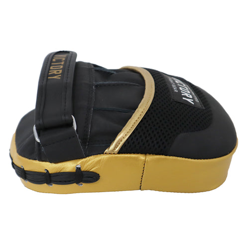 VICTORY FOCUS MITTS MICRO V2 LEATHER BLACK GOLD