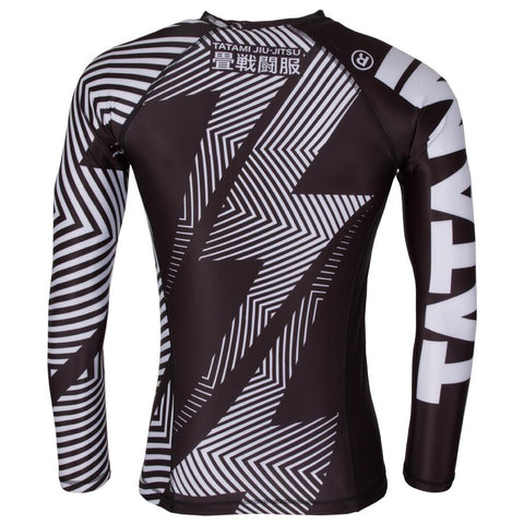 TATAMI RASHGUARD IBJJF NO GI L/S  BLACK WHITE - MSM FIGHT SHOP