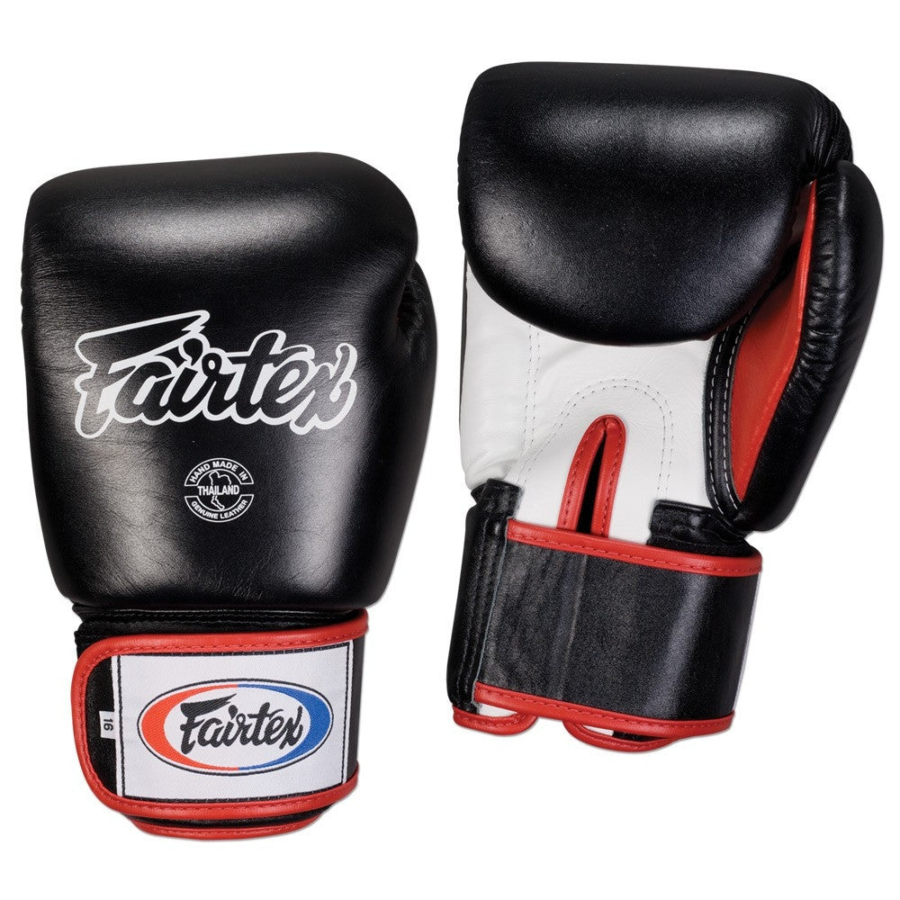 FAIRTEX GLOVES BGV1 BLACK/WHITE/RED - MSM FIGHT SHOP