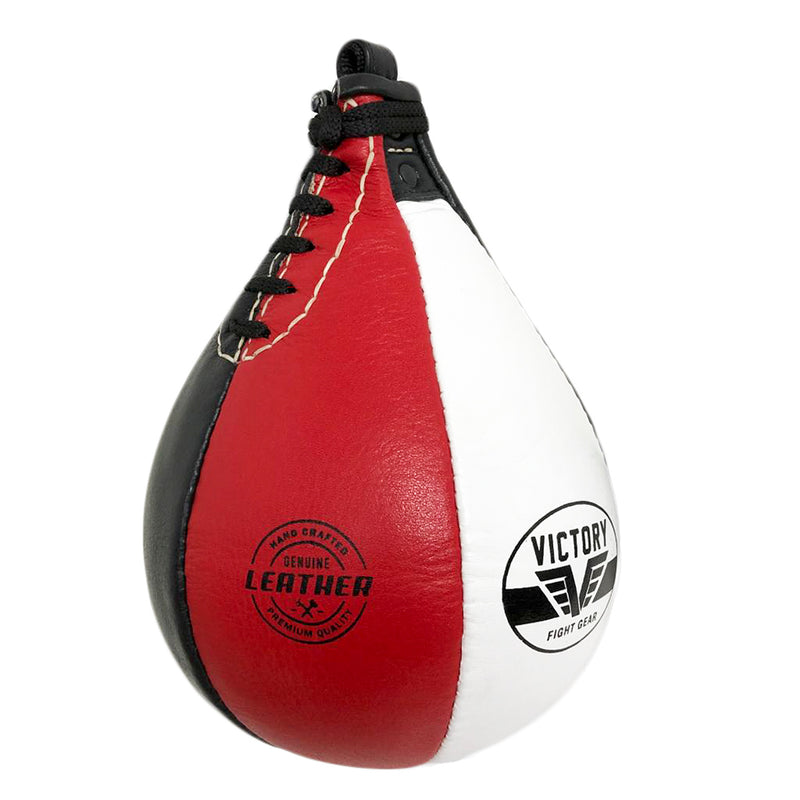 VICTORY SPEED BAG LEATHER 9 INCH - RED BLACK WHITE