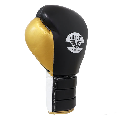 VICTORY GLOVES LACE CLASSIC SERIES 3.0 LEATHER BLACK/GOLD