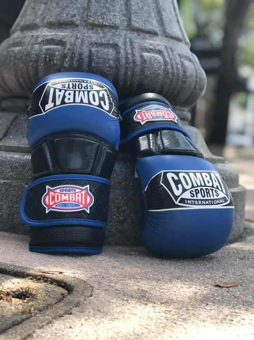 COMBAT SPORTS MMA GLOVES SPARRING TG6 BLUE/BLACK