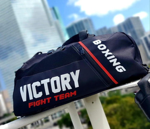 VICTORY BAG FIGHT TEAM CONVERTIBLE BACKPACK BLACK