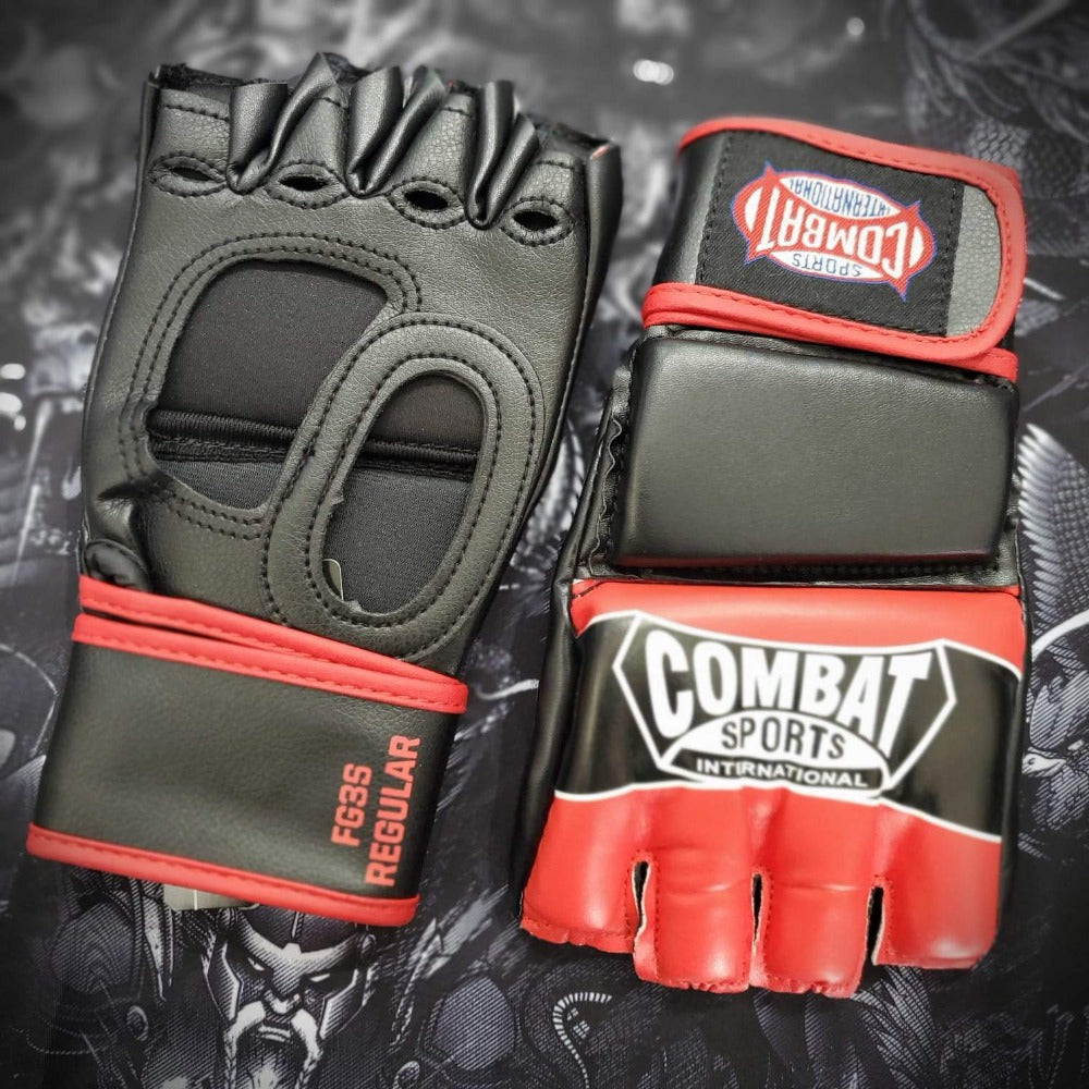 COMBAT SPORTS MMA GLOVES FG3S RED/BLACK