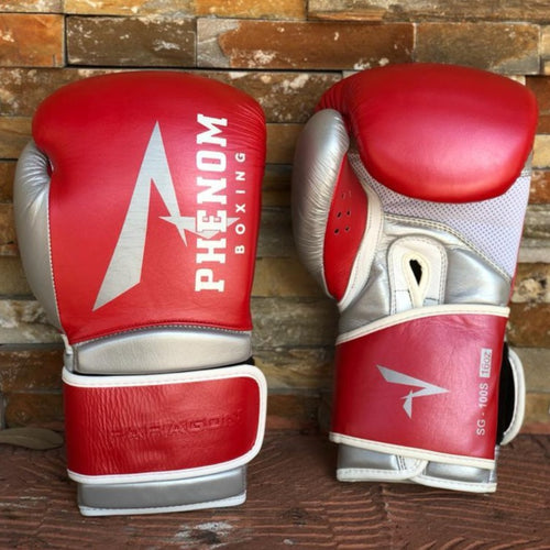 NEW PHENOM LEATHER BOXING SPEED BAG SB2 LEATHER WHITE//RED