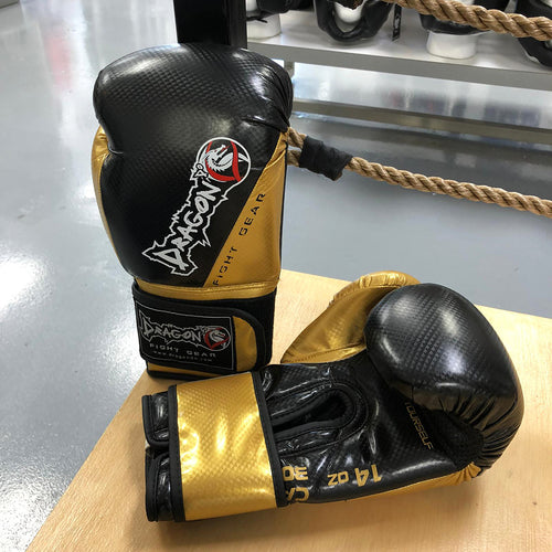 DRAGON DO GLOVES CARBON II BLACK/GOLD