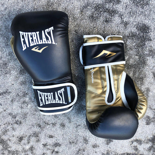 EVERLAST GLOVES POWERLOCK SYNTEC BLACK/GOLD