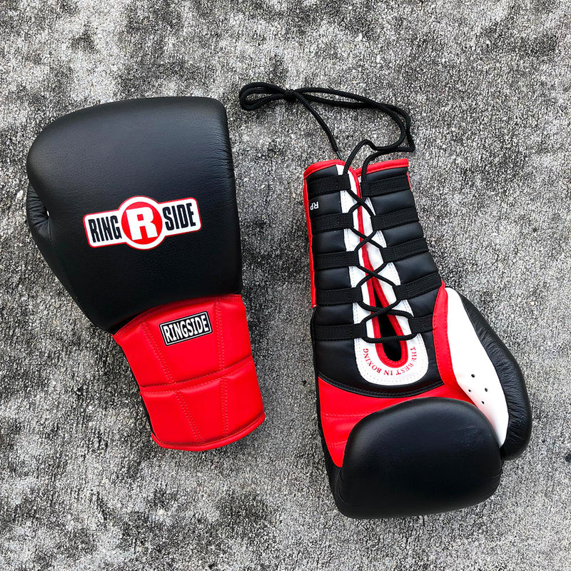 RINGSIDE GLOVES LACE BLACK / RED RP