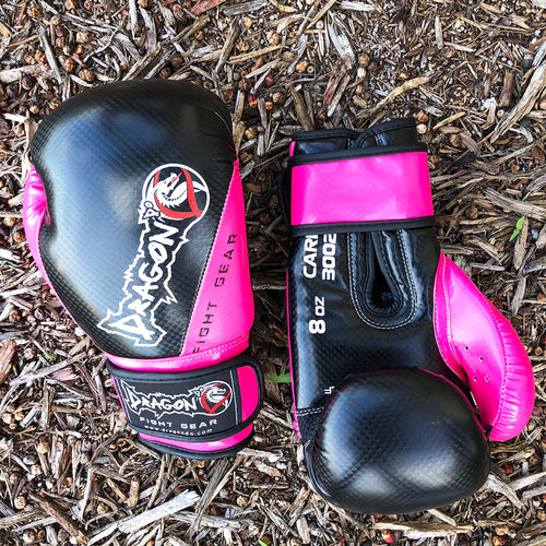 DRAGON DO GLOVES CARBON II BLACK/PINK