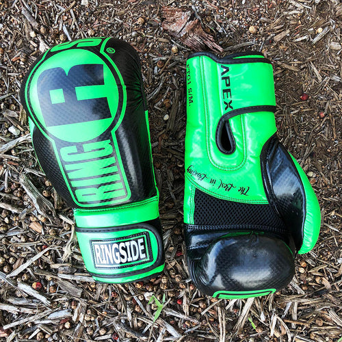 RINGSIDE GLOVES APEX FTG1 GREEN/BLACK