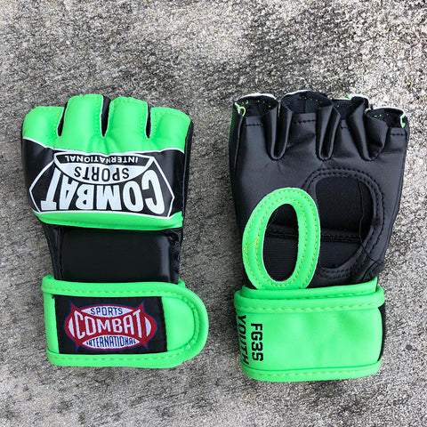 COMBAT SPORTS MMA GLOVES YOUTH FG3S GREEN/BLACK