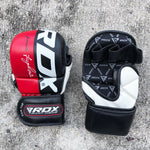 RDX MMA GLOVES T6 GRAPPLING BLACK/RED