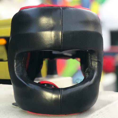 RINGSIDE HEADGEAR FACE SAVER DFSH BLACK/RED