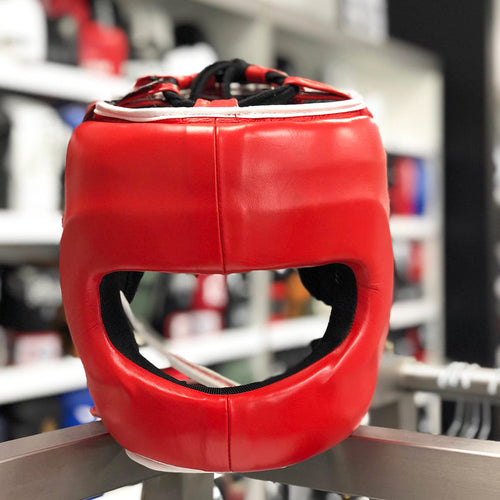 RINGSIDE HEADGEAR FACE SAVER DFSH RED/WHITE