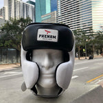 PHENOM BOXING HEADGEAR ELITE SHG200- WHITE/BLACK