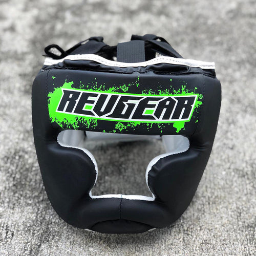 REVGEAR HEADGEAR YOUTH BLACK/GREEN