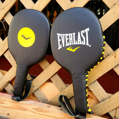 EVERLAST PUNCHING PADDLES LEATHER BLACK