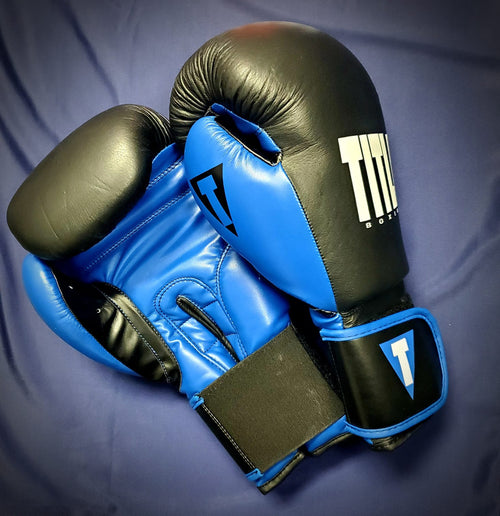 TITLE GLOVES DYNAMIC STRIKE HEAVY BLACK/BLUE