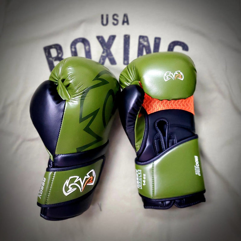 RIVAL GLOVES RS80V IMPULSE SPARRING - OLIVE GREEN